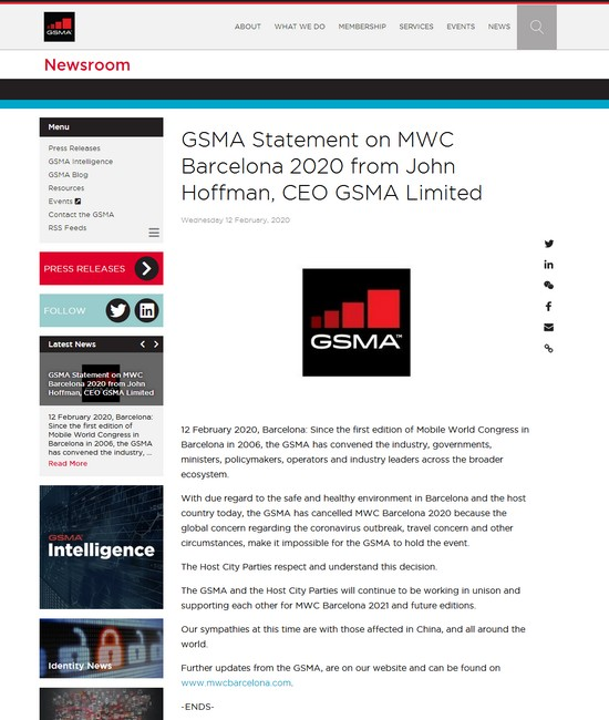 GSMA GSMA Statement on MWC Barcelona 2020 from Joh.jpg